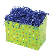 Shamrock 9 x 5 x 7 1/2 Party Dots Basket Box, Green/Assorted Accent