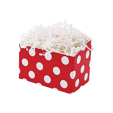 Shamrock 6 3/4in. x 4in. x 5in. Cherry Dots Bistro 2 go Basket Box, White on Red