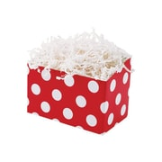 Shamrock 6 3/4 x 4 x 5 Cherry Dots Bistro 2 go Basket Box, White on Red