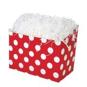 Shamrock 9 x 5 x 7 1/2 Cherry Dots Bistro 2 go Basket Box, White on Red