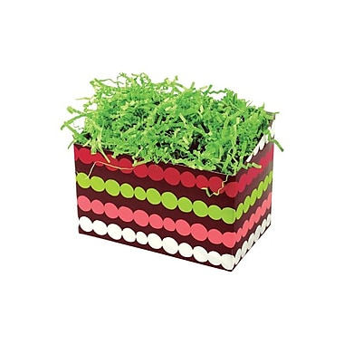 Shamrock 6 3/4in. x 4in. x 5in. Holiday Happiness Basket Box, White/Red/Green/Pink/Brown