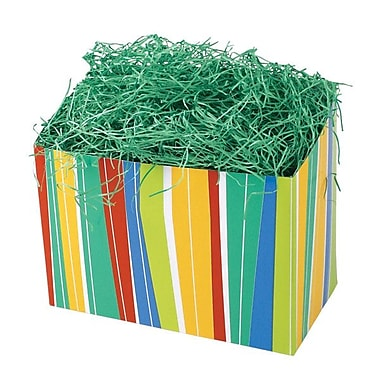 Shamrock 9in. x 5in. x 7 1/2in. Power Stripe Basket Box, Yellow/Red/Blue/Green