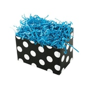 Shamrock 6 3/4 x 4 x 5 Domino Dots Basket Box, White on Black