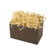 Shamrock 6 3/4 x 4 x 5 Shadow Stripe Basket Box, Chocolate Brown