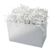 Shamrock 9 x 5 x 7 1/2 Basket Box, Silver