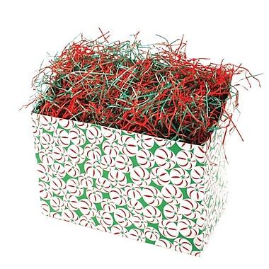 Shamrock 9in. x 5in. x 7 1/2in. Sweet Treat Basket Box, White/Red/Green