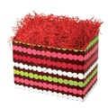 Shamrock 9in. x 5in. x 7 1/2in. Holiday Happiness Basket Box, White/Red/Green/Pink/Brown