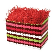 Shamrock 9 x 5 x 7 1/2 Holiday Happiness Basket Box, White/Red/Green/Pink/Brown