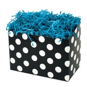 Shamrock 9 x 5 x 7 1/2 Domino Dots Basket Box, White on Black