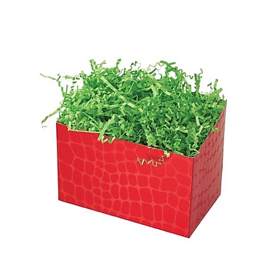 Shamrock 6 3/4in. x 4in. x 5in. Red Croc Basket Box, Red