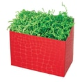 Shamrock 9in. x 5in. x 7 1/2in. Red Croc Basket Box, Red