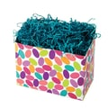 Shamrock 9in. x 5in. x 7 1/2in. Candy Confetti Basket Box, Green/Red/Blue