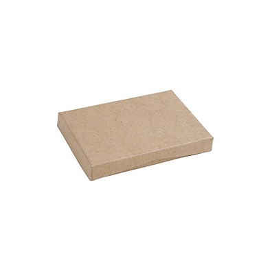 Shamrock 4 5/8in. x 3 3/8in. x 5/8in. Presentation Pop-Up Gift Card Box, Natural Kraft Beige White