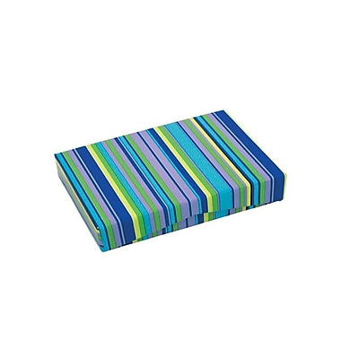 Shamrock 4 5/8in. x 3 3/8in. x 5/8in. Presentation Pop-Up Gift Card Box, Aqueous Mini Stripe