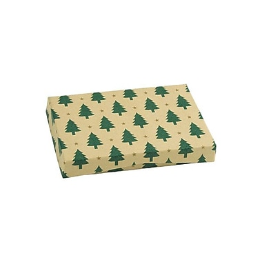 Shamrock 4 5/8in. x 3 3/8in. x 5/8in. Presentation Pop-Up Gift Card Box, Little Trees