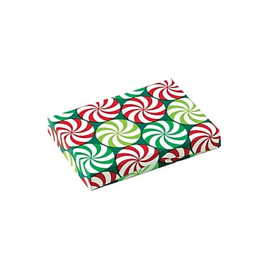 Shamrock 4 5/8in. x 3 3/8in. x 5/8in. Presentation Pop-Up Gift Card Box, Peppermint Swirl