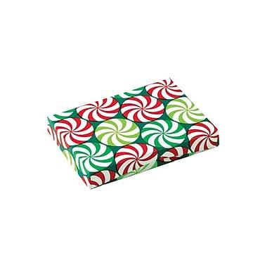 Shamrock 4 5/8in. x 3 3/8in. x 5/8in. Presentation Pop-Up Gift Card Box, Peppermint Swirl