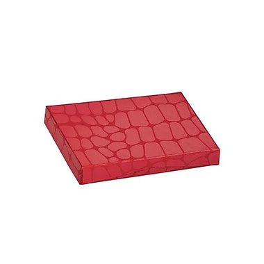 Shamrock 4 5/8in. x 3 3/8in. x 5/8in. Presentation Pop-Up Gift Card Box, Red Croc