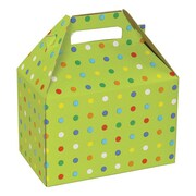 Shamrock 8 x 4 7/8 x 5 1/4 Party Dots Gable Box, Green/Assorted