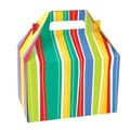 Shamrock 8in. x 4 7/8in. x 5 1/4in. Power Stripe Gable Box, Yellow/Red/Blue/Green/White