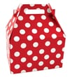 Shamrock 9in. x 6in. x 6in. Cherry Dots Bistro 2 go Gable Box, Red/White