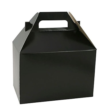 Shamrock 8in. x 4 7/8in. x 5 1/4in. Gable Box, Midnight Black