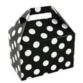 Shamrock 8in. x 4 7/8in. x 5 1/4in. Domino Dots Gable Box, White on Black