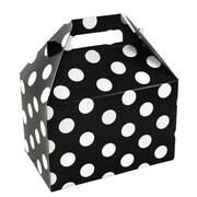 """Shamrock Board 5.25""""H x 4.88""""W x 8""""L Domino Dots Gable Box, Black/White, 100/Carton"""
