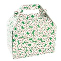 Shamrock 8in. x 4 7/8in. x 5 1/4in. Sweet Treat Gable Box, Red/White/Green