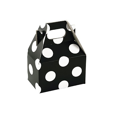 Shamrock 4in. x 2 1/2in. x 2 1/2in. Domino Dots Gable Box, White on Black
