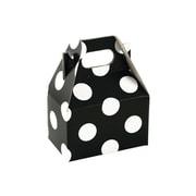 "Shamrock 4"" x 2 1/2"" x 2 1/2"" Domino Dots Gable Box, White on Black"