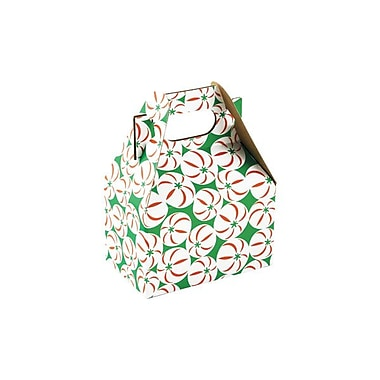 Shamrock 4in. x 2 1/2in. x 2 1/2in. Sweet Treat Gable Box, Red/White/Green