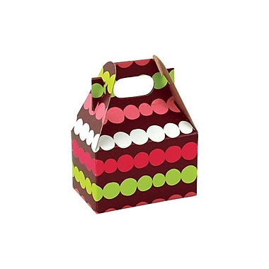 Shamrock 4in. x 2 1/2in. x 2 1/2in. Holiday Happiness Gable Box, Brown/Green/Red/Pink/White