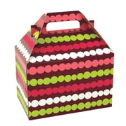 Shamrock 8 x 4 7/8 x 5 1/4 Holiday Happiness Gable Box, Brown/Green/Red/Pink/White