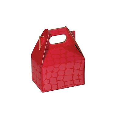 Shamrock 4in. x 2 1/2in. x 2 1/2in. Red Croc Gable Box, Red