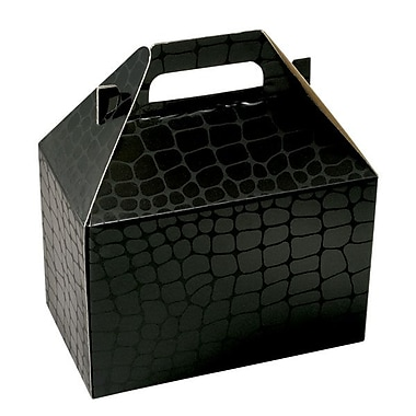 Shamrock 8in. x 4 7/8in. x 5 1/4in. Mock Croc Gable Box, Black