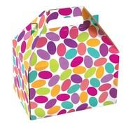 Shamrock Cardboard 5.25H x 4.88W x 8L Candy Confetti Gable Box, Multicolor, 100/Carton