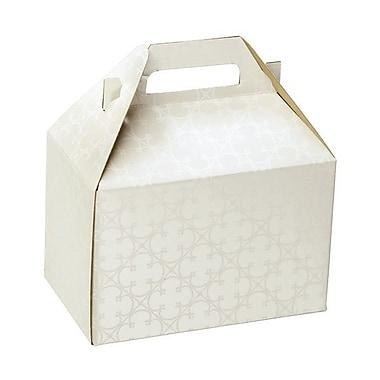 Shamrock Board 5.25in.H x 4.88in.W x 8in.L Quatrefoil Gable Box, White, 100/Carton