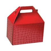 Shamrock 8 x 4 7/8 x 5 1/4 Red Croc Gable Box, Red