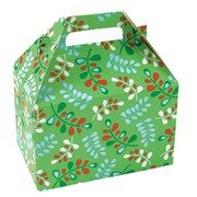 Shamrock 8 x 4 7/8 x 5 1/4 Christmas Kiss Gable Box, Red/White/Green