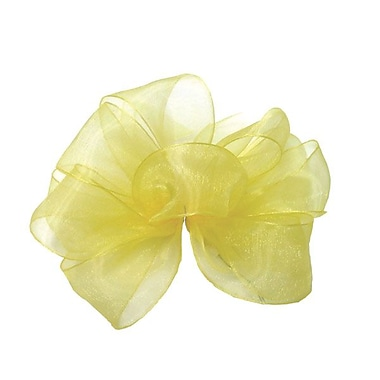Shamrock 7/8in. x 100 yds. Simply Sheer Asiana Mono Edge Ribbon, Yellow