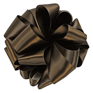 Shamrock 1 1/2in. x 50 yds. Double Face Satin Ribbon, Brown