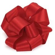 Shamrock 1 1/2 x 100 yds. Satin Acetate Ribbon, Holiday Red