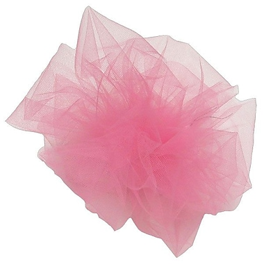 Shamrock 6in. x 25 yds. Tulle Ribbon, Hot Pink