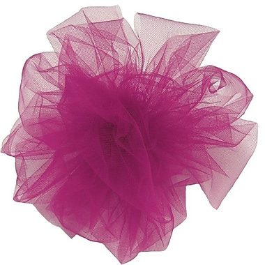 Shamrock 6in. x 25 yds. Tulle Ribbon, Fuchsia