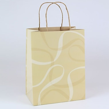 Shamrock 8in. x 4 3/4in. x 10 1/2in. Boulangerie Small Kraft Shopping Bags, Brown