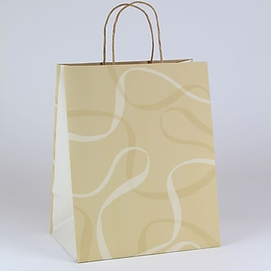 Shamrock 10in. x 7in. x 12 1/2in. Boulangerie Large Kraft Shopping Bags, Brown