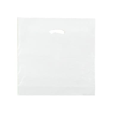 Shamrock 18in. x 18in. x 4in. Low Density Single Layer Kidney Die-Cut Handle Bags, Clear
