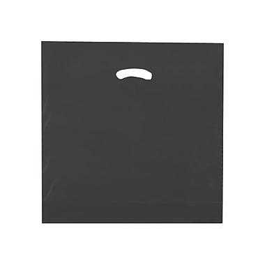 Shamrock 18in. x 18in. x 4in. Low Density Single Layer Kidney Die-Cut Handle Bags, Black