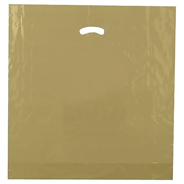 Shamrock 20in. x 20in. x 5in. Low Density Single Layer Kidney Die-Cut Handle Bags, Gold